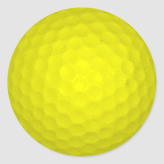 Choose Your Color Golf Ball Classic Round Sticker