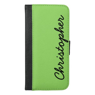 CHOOSE YOUR COLOR iPhone 6 Plus Wallet Case Green