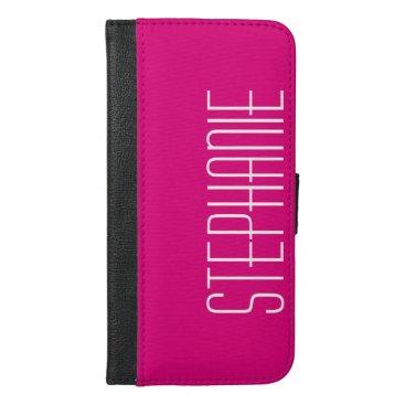 CHOOSE YOUR COLOR iPhone 6 Plus Wallet Case Pink