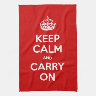 Choose Your Color Keep Calm and Carry On Kitchen Towel