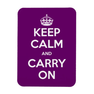 Choose your color Keep Calm and Carry On Vinyl Magnet