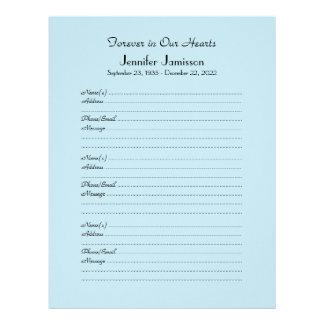 CHOOSE YOUR COLOR, Memorial Book Filler Page Letterhead