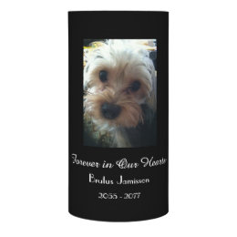 CHOOSE YOUR COLOR, Memorial Candle, Loss of Pet Flameless Candle