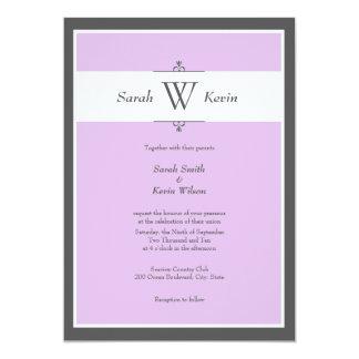 Choose Your Color Monogram Wedding Invitations