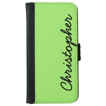 Christmas Themed CHOOSE YOUR COLOR or Neon Lime Green Custom Wallet Phone Case For iPhone 6/6s