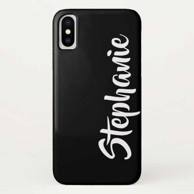 Choose Your Color Personalized iPhone Case