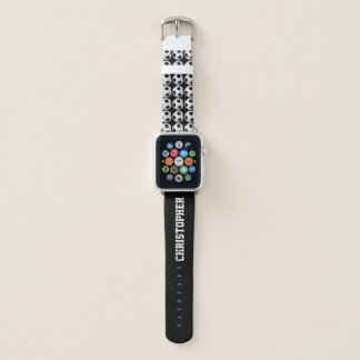 CHOOSE YOUR COLOR Personalized Soccer with Name Apple Watch Band