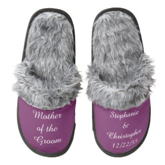 CHOOSE YOUR COLOR Personalized Wedding Slippers
