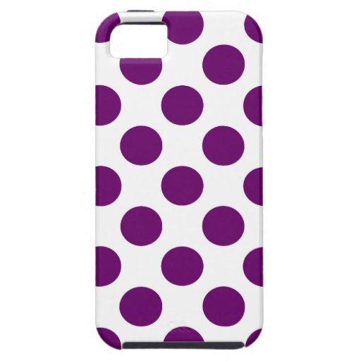 Choose Your Color Polka Dots On White iPhone 5 Cover