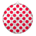 Choose Your Color Polka Dots On White Dartboards