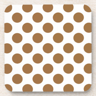 Choose Your Color Polka Dots On White Drink Coaster