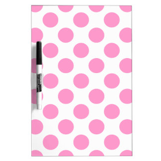 Choose Your Color Polka Dots On White Dry-Erase Board