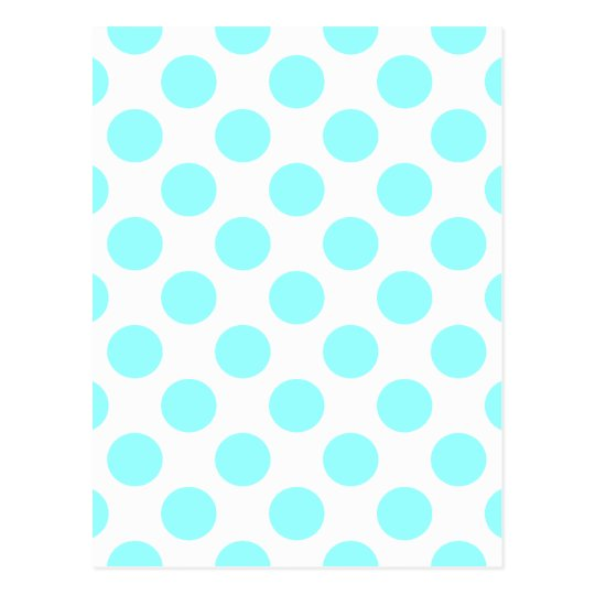 Choose Your Color Polka Dots On White Postcard