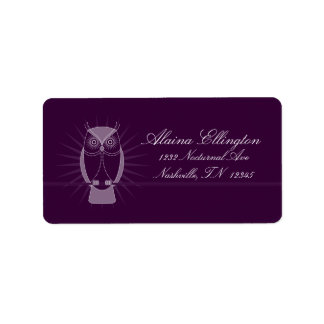 Choose Your Color Wise Old Owl Address Labels