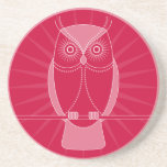 Choose Your Color Wise Old Owl Coaster