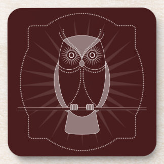 Choose Your Color Wise Old Owl Coasters Set