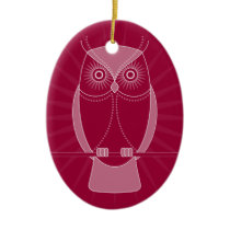 Choose Your Color Wise Old Owl Ornament