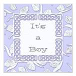 Choose Your Color Woven Border Baby Announcement