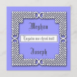 Choose Your Color Woven Border Wedding Invitation