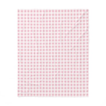 Beach Themed Choose Your Colour Gingham Pattern Fleece Blanket