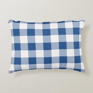 Choose Your Colour Gingham Print Accent Pillow 1