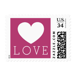 Choose your font & color : White Heart Love Stamp