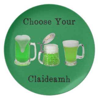 Choose Your Gaelic Weapon Melamine Plate
