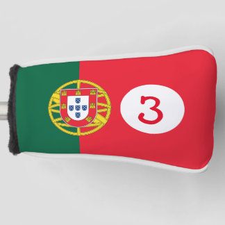 choose your golf club number Portugal flag Golf Head Cover