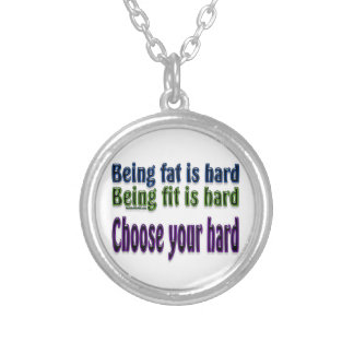 Choose Your Hard Round Pendant Necklace
