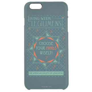Choose Your Minds Wisely - Legilimens Poster Clear iPhone 6 Plus Case