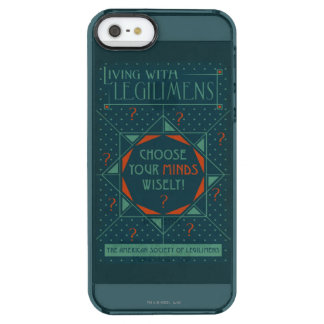 Choose Your Minds Wisely - Legilimens Poster Clear iPhone SE/5/5s Case