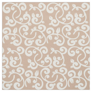Choose your own Color: Floral Vines, Tan Fabric