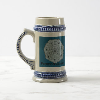 Choose Your Own Color Lace Crochet Look Flower Beer Stein