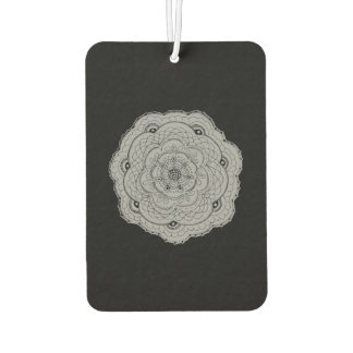 Choose Your Own Color Lace Crochet Look Flower Car Air Freshener