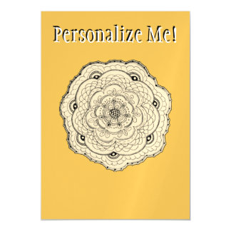 Choose Your Own Color Lace Crochet Look Flower Magnetic Card