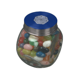 Choose Your Own Color Lace Doily Flower Jelly Belly Candy Jars
