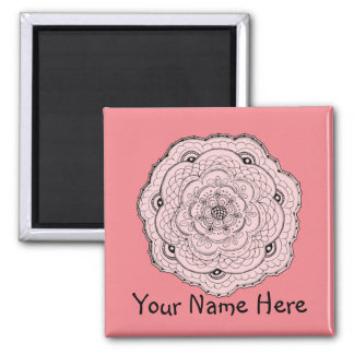 Choose Your Own Color Lace Doily Flower Magnet