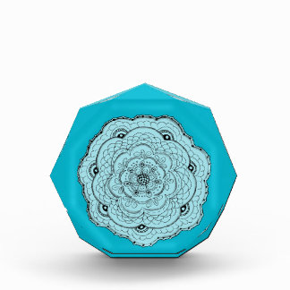 Choose Your Own Color Lacy Crochet Doily Flower Award