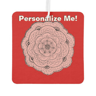 Choose Your Own Color Lacy Crochet Doily Flower Car Air Freshener