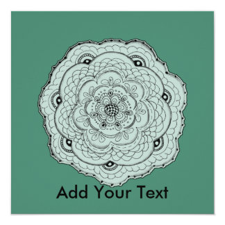 Choose Your Own Color Lacy Crochet Doily Flower Card