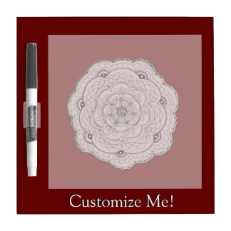 Choose Your Own Color Lacy Crochet Doily Flower Dry Erase Board