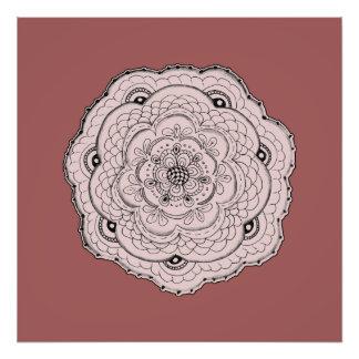 Choose Your Own Color Lacy Crochet Doily Flower Photo Print