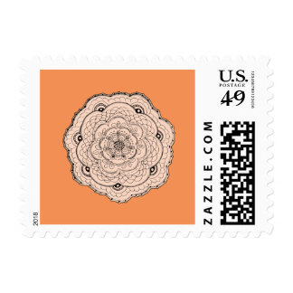Choose Your Own Color Lacy Crochet Doily Flower Postage Stamp
