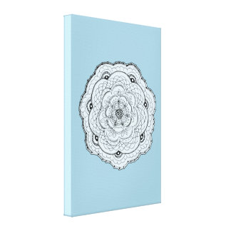 Choose Your Own Color Lacy Crochet Look Flower Canvas Print