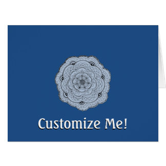 Choose Your Own Color Lacy Crochet Look Flower Card