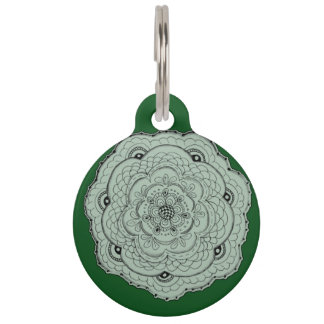 Choose Your Own Color Lacy Crochet Look Flower Pet Tag