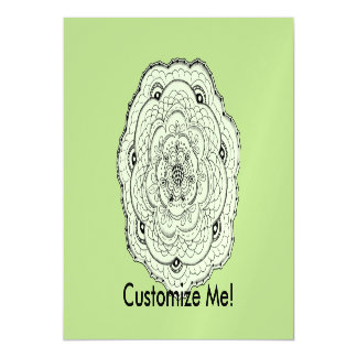 Choose Your Own Color Lacy Crochet Look Flower Magnetic Card