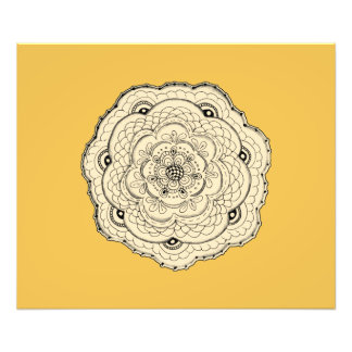 Choose Your Own Color Lacy Crochet Look Flower Photo Print