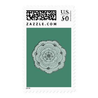 Choose Your Own Color Lacy Crochet Look Flower Postage