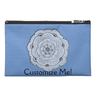 Choose Your Own Color Lacy Crochet Look Flower Travel Accessory Bag